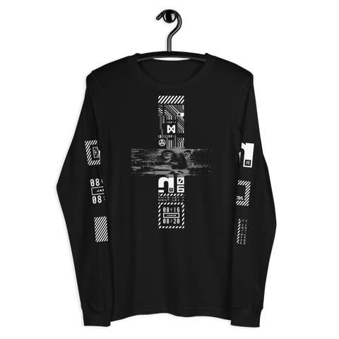 TEARS GLITCH LONG SLEEVE T-SHIRT