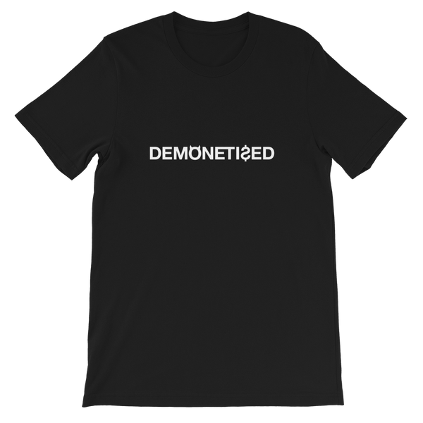 DEMONETIZED UNISEX T-SHIRT-Black-XS-Dustrial