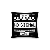 VHS NO SIGNAL MONO SQUARE PILLOW