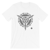 CYCLES UNISEX T-SHIRT-White-XS-Dustrial