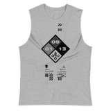 09011E HAZARD MUSCLE TANK-Athletic Heather-S-Dustrial