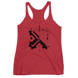 DOUBLE DOUBLE WOMEN'S MUSCLE TANK-Vintage Red-XS-Dustrial