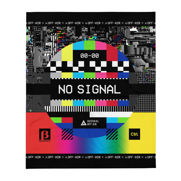NO SIGNAL THROW BLANKET-Dustrial