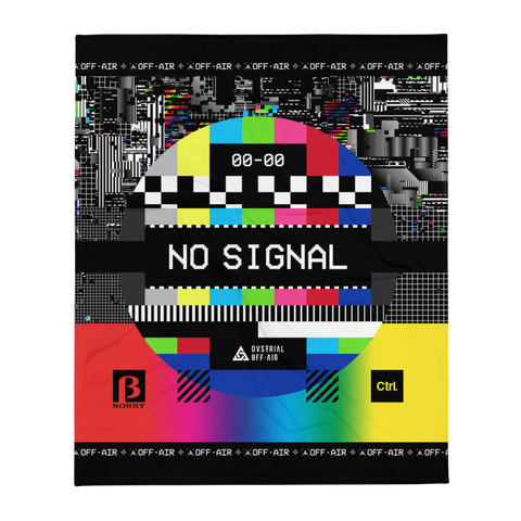 NO SIGNAL THROW BLANKET