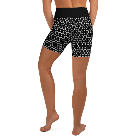 HEXAGON MONO YOGA SHORTS-XS-Dustrial