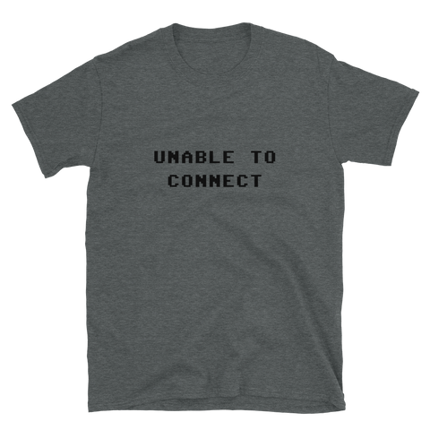 UNABLE TO CONNECT BUDGET TEE-Dark Heather-S-Dustrial