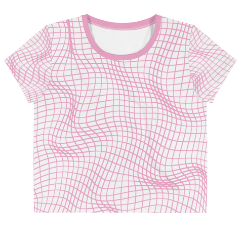 PERLIN NOISE PINK AO CROP TOP-XS-Dustrial