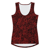 ROSES RED SPORT TANK TOP-XS-Dustrial