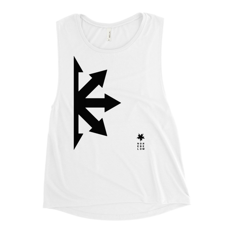 S0METHING FROM N∞THING WOMEN'S MUSCLE TANK-White-S-Dustrial
