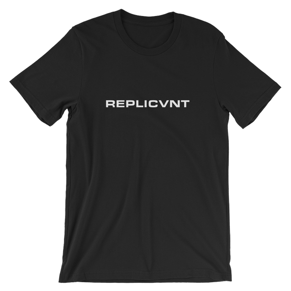 REPLICVNT UNISEX T-SHIRT-Black-XS-Dustrial
