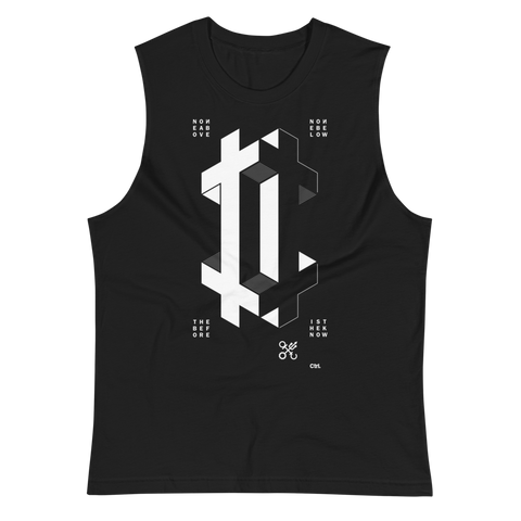 DOUBLE CROSS CROSS MUSCLE TANK-Black-S-Dustrial