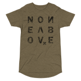 NONE ABOVE DISTRESS LONG BODY T-SHIRT-Heather Olive-S-Dustrial