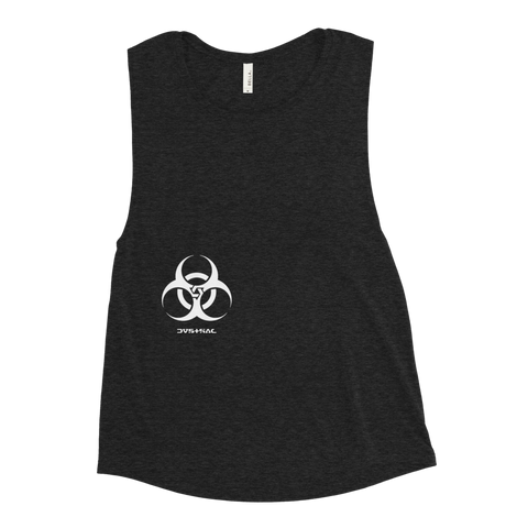 BIODUSTRIAL WOMEN'S MUSCLE TANK-Black Heather-S-Dustrial