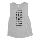 EMOJIDUSTRIAL WOMEN'S MUSCLE TANK-Athletic Heather-S-Dustrial