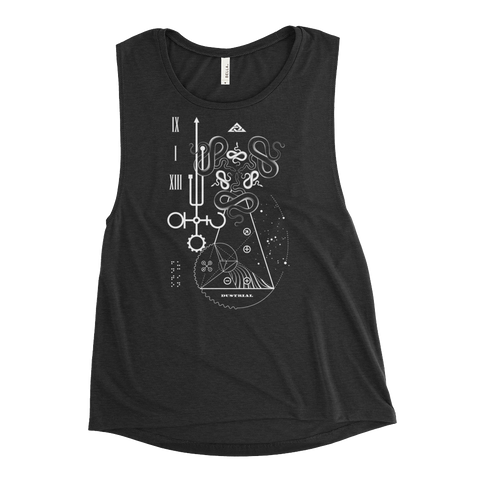FUNCTION WOMEN'S MUSCLE TANK-Black Heather-S-Dustrial