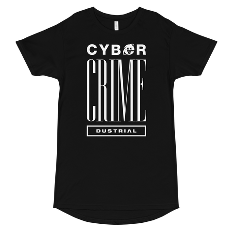 CYBERCRIME95 MONO LONG BODY T-SHIRT-Black-S-Dustrial