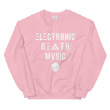 ELECTRONIC DEATH MUSIC CREWNECK SWEATSHIRT-Light Pink-S-Dustrial