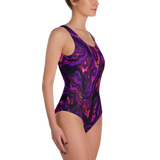 PURPLE HAZE ONE-PIECE SWIMSUIT