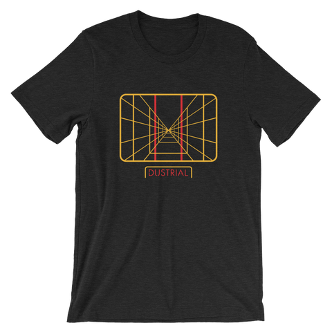 STAY ON TARGET UNISEX T-SHIRT-Black Heather-S-Dustrial
