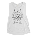 NEW WORLD CVLT WOMEN'S MUSCLE TANK-White-S-Dustrial