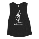 ASL WOMEN'S MUSCLE TANK-Black Heather-S-Dustrial