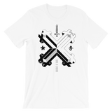 DOUBLE DOUBLE CROSS CROSS UNISEX T-SHIRT-White-XS-Dustrial