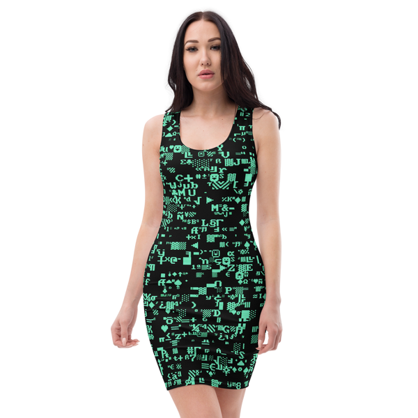 ASCII TERMINAL BODYCON DRESS