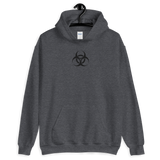 BIODUSTRIAL E UNISEX HOODIE-Dark Heather-S-Dustrial