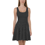 HEXAGON MONO SKATER DRESS-Dustrial