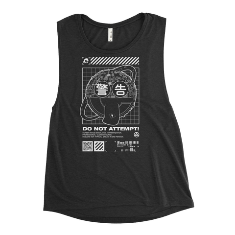 DO NOT ATTEMPT WOMEN'S MUSCLE TANK-S-Dustrial