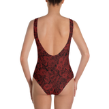 ROSES RED ONE-PIECE SWIMSUIT-Dustrial