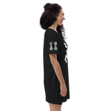 DOUBLEDOUBLE CROSSCROSS ORGANIC COTTON T-SHIRT DRESS