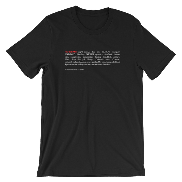 REPLICANT UNISEX T-SHIRT-Black-S-Dustrial