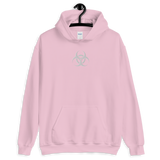 BIODUSTRIAL E UNISEX HOODIE-Light Pink-M-Dustrial