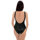 PRIMORDIAL STRING ONE-PIECE SWIMSUIT