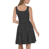 HEXAGON MONO SKATER DRESS