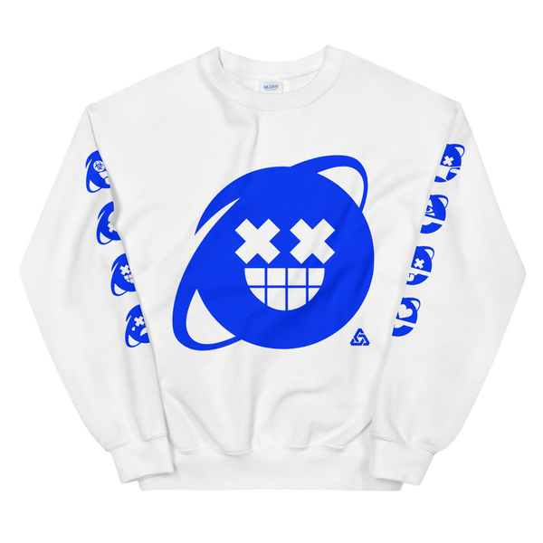 SCREEN IMAGE SIMULATED CREWNECK SWEATSHIRT-S-Dustrial