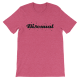 BISEXUAL BLING UNISEX T-SHIRT-Heather Raspberry-S-Dustrial