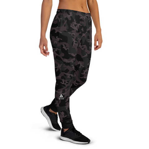 CAMO BLACK AO WOMEN'S JOGGERS-Dustrial