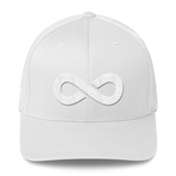 ∞ FLEXFIT TWILL CAP-White-S/M-Dustrial