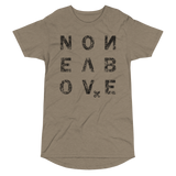 NONE ABOVE DISTRESS LONG BODY T-SHIRT-Heather Stone-S-Dustrial