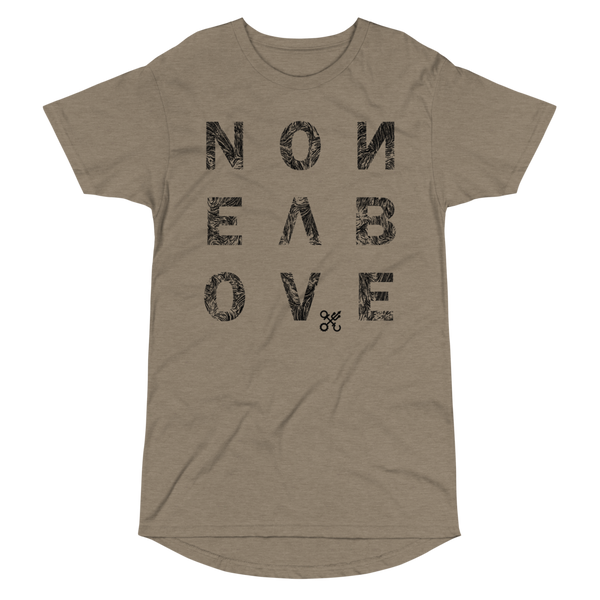 NONE ABOVE DISTRESS LONG BODY T-SHIRT