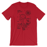RADIOCURIE UNISEX T-SHIRT-Red-S-Dustrial