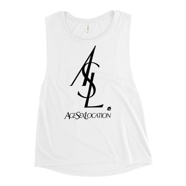 ASL WOMEN'S MUSCLE TANK-White-S-Dustrial