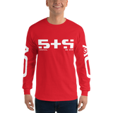 STR LONG SLEEVE T-SHIRT-Red-S-Dustrial
