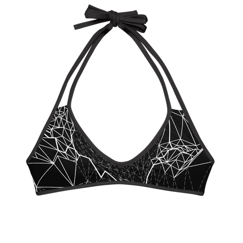VECTOR BREAK / HEXAGON MONO BIKINI TOP