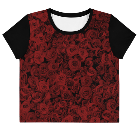ROSES RED AO CROP TOP