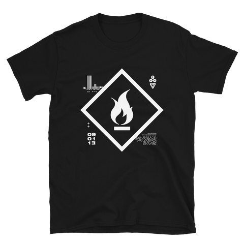 09011E FIRE BUDGET TEE-Black-S-Dustrial