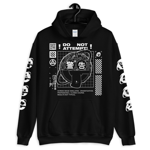 DO NOT ATTEMPT UNISEX HOODIE-Black-S-Dustrial