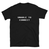 UNABLE TO CONNECT BUDGET TEE-Black-S-Dustrial
